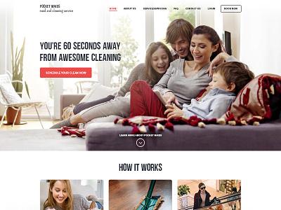 Website Design for a Cleaning Service flat landing ux ui webdesign