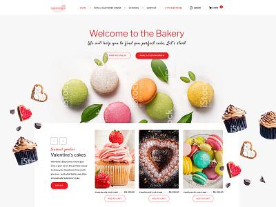 E-commerce concept website for Bakery flat site ux ui food bakery restaurant e-commerce