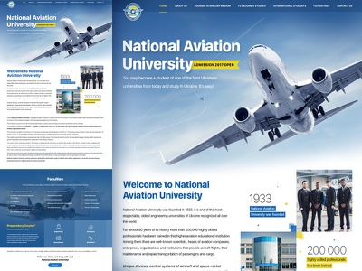 Design for Ukrainian Aviation University aviation avia ux university ui students education