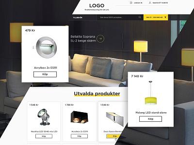 E-commerce web site design for lighting retailer lamp lighting ux ui store e-commerce light