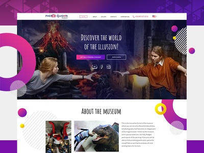 Landing Page for the first Museum of Optical Illusions landing wordpress corporate design flat webdesign ux web ui