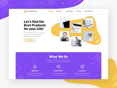 Web Site design for the blog vector illustration wordpress landing webdesign flat web design ux ui