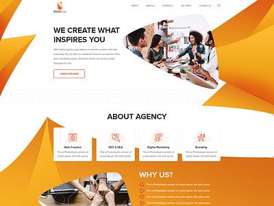 Agency Website design illustration corporate wordpress landing webdesign flat web ux design ui