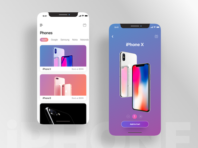 iPhone X - Shopping ecommerce cart shopping