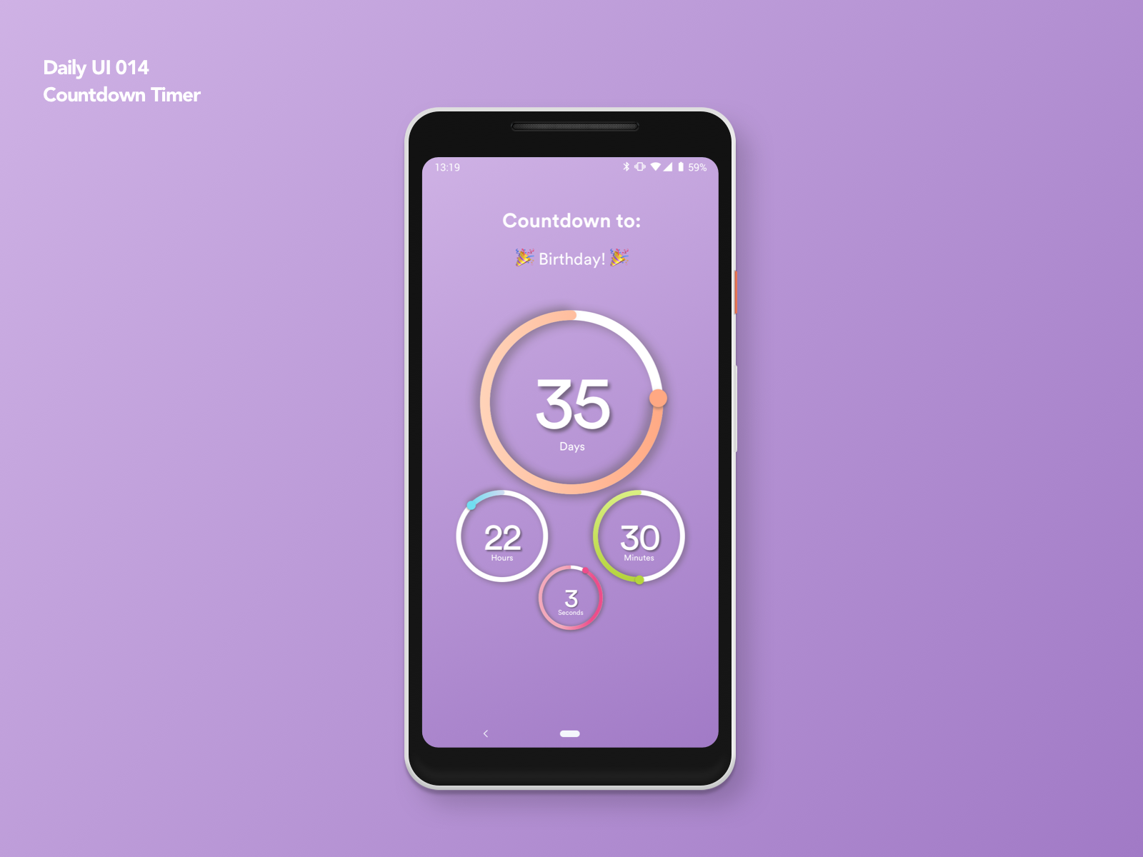 Countdown Timer Daily Ui 014 By Vicente Politeo Dribbble Dribbble