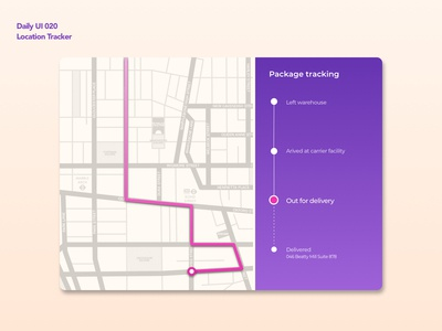 Location Tracker | Daily UI 020