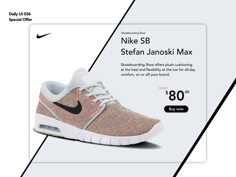 Special Offer | Daily UI 036 sale product offer special special offer dailyui036 janoski shoes nike design ui ux dailyui
