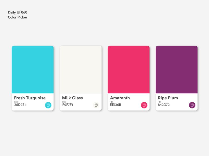 Color Picker | Daily UI 060 dailyui060 hex picker color color picker card design ui ux dailyui