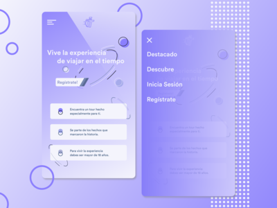 Time Travel Concept Landing Page