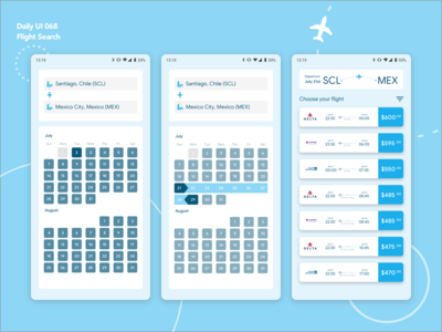 Daily UI 068 | Flight Search