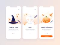 Halloween Onboarding Screens
