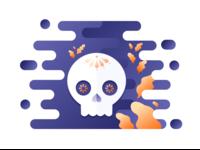 Sticker Mule Rebound / Skull