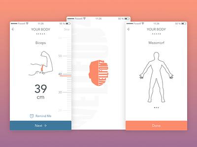Health iOS mobile app flat app medical lifestyle fitness health ios application mobile