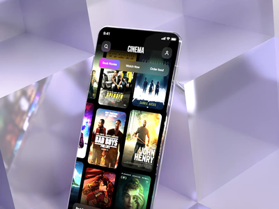 Cinema App concept purchase flow movies graphic design motion graphics clean motion cinema design app animation ui 3d