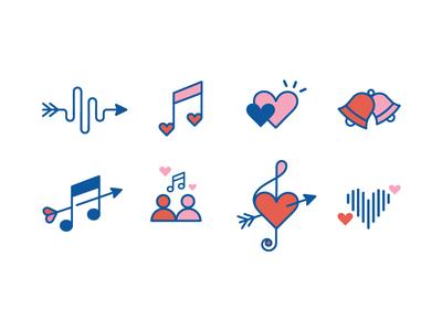 Couple Tunes Icons