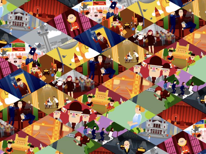 LDN, pattern. art direction animation illustration