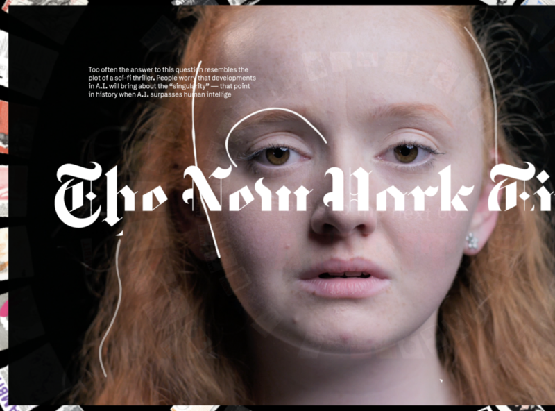 New York Times - NYT / AI typography art direction animation