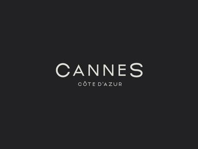Cannes Côte d'Azur - Logotype logo logomark identity branding logotype typography