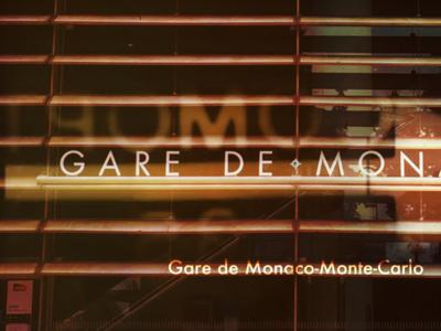 Gare De Monaco typography art direction