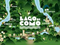 Lago Di Como, Map