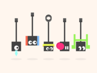 Minimalist Character Designs