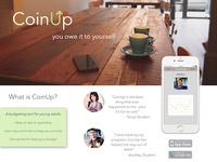 CoinUp App Landing Page