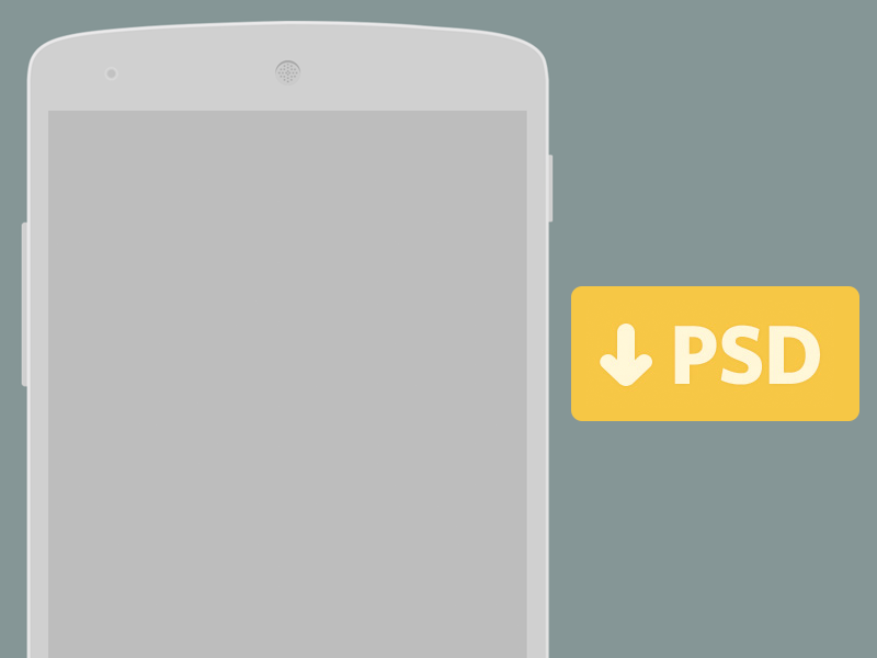 Free Nexus 5 PSD for Wireframing wireframing nexus 5 flat subtle nexus wireframe psd free download light minimal freebie