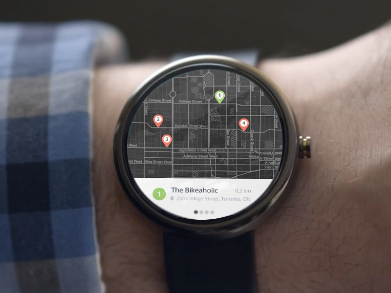 Android Wear Map Results google watch android watch watch google map ui ux android wear