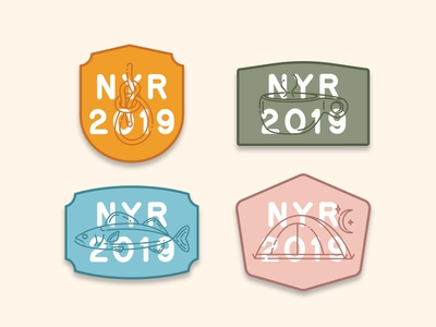NYE 2019 Patches new years resolution kuksa cup fish tent knot camp outdoorsy camping patches