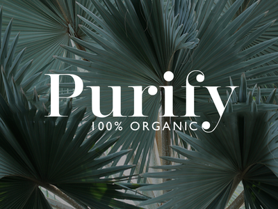 Purifydribbble skincare product green organic branding bodycare purify