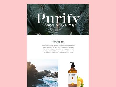 Purify Completed Portfolio  portfolio skincare product logo organic branding bodycare purify