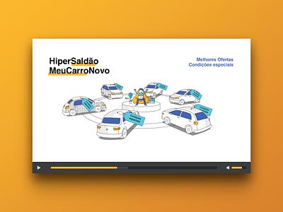 Illustration for a movie to MeuCarroNovo car motion design motion illustration
