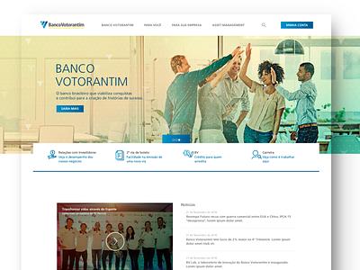Banco Votorantim - UI Bank Website website webdesign financial bank uidesign ui design