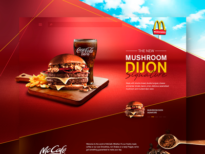 McDonalds - UI Concept Website