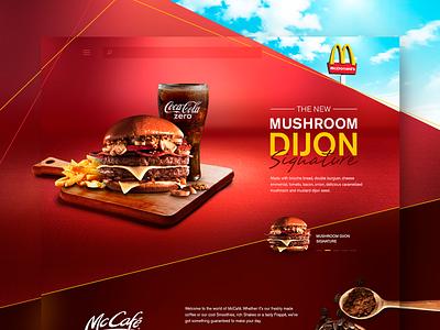 McDonalds - UI Concept Website webdesign website ui design fast food hamburger mcdonalds ui design