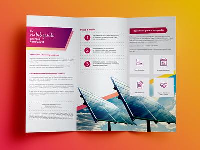 Folder - Solar Power Financing print design offline folder design financing clean energy energy sun solar panel solar energy