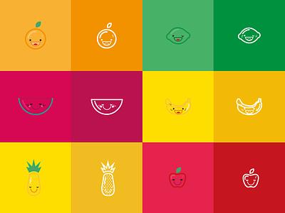 Icons - Fruits vector fruits fruit design illustration icon