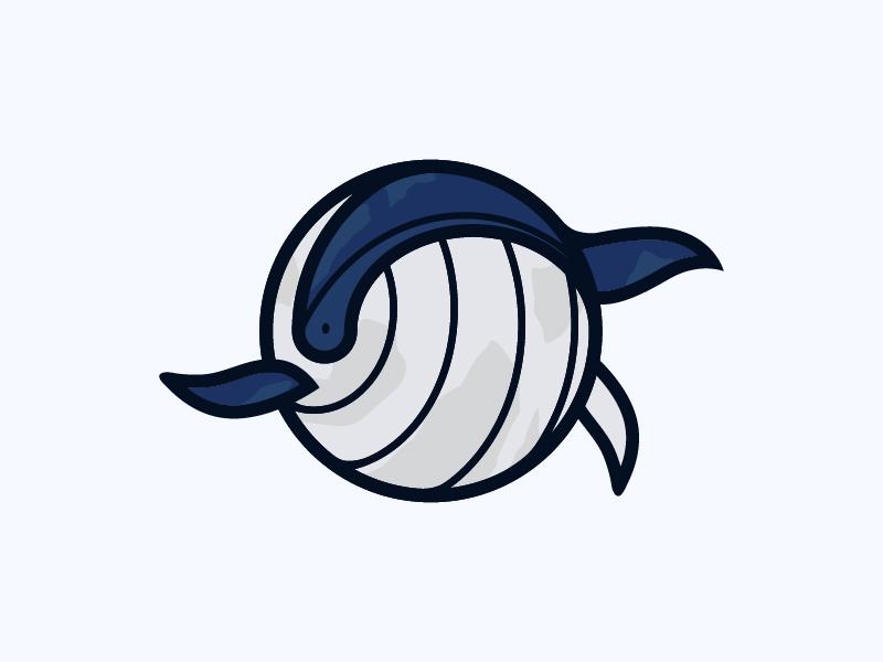 Blue Whale grey circle ilustrator logo bluewhale whale blue