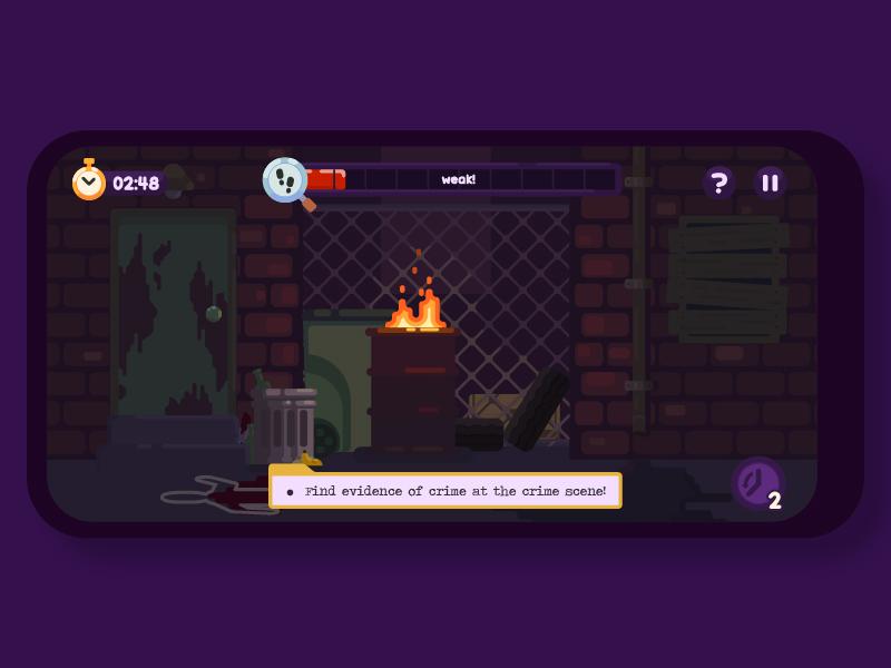 Crime Scene dribbble design vector night concept adobe illustrator game illustration mobilegame ios android
