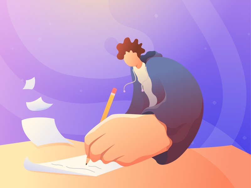 Passion abstact work desk paper write passion app web adobe illustration design vector illustrator