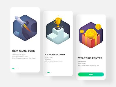 黑鲨游戏手机发发现好游戏引导页 app ui illustration