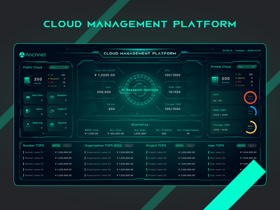 Cloud MSP platform management cloud color black gif 、web design ui、layout、web、web ui