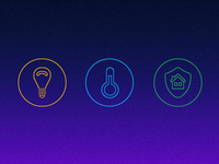Smart home control icons