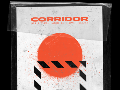Corridor @ 529 experimental gig posters illustration posters bands music typography graphic design design art
