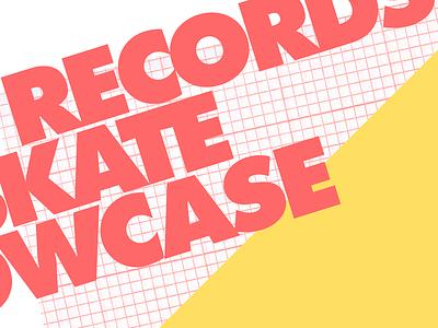 Bayonet Records x Couple Skate CMJ Showcase advertising print poster cmi music graphic design design art