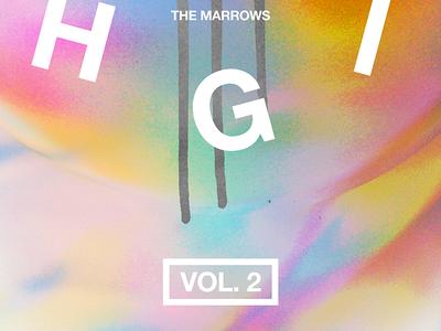 Gig Poster typography vol. 2 prismatic prism gradients color gig poster