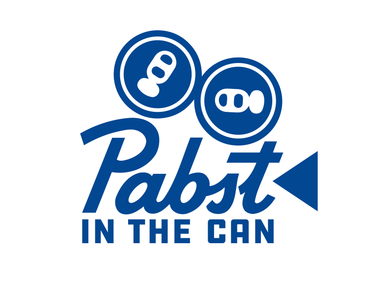 Pabst In The Can movies film beer combination mark logo identity branding visual design graphic design design art