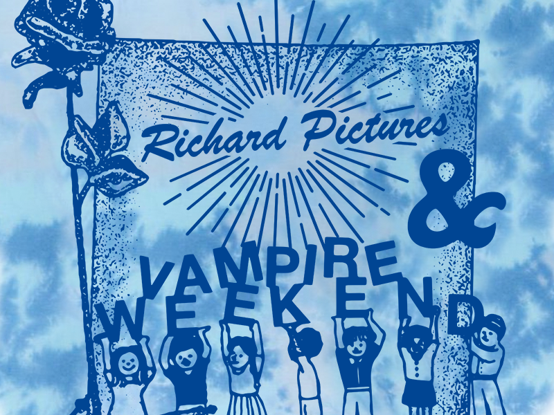 Vampire Weekend & Richard Pictures tie dye bands vampire weekend t-shirts graphic design illustration design art