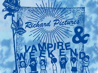 Vampire Weekend & Richard Pictures tie dye bands vampire weekend t-shirts graphic design illustration design art