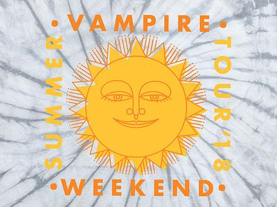 Vampire Weekend Summer Tour '18 sun music merch band shirts bands vampire weekend graphic design illustration design art